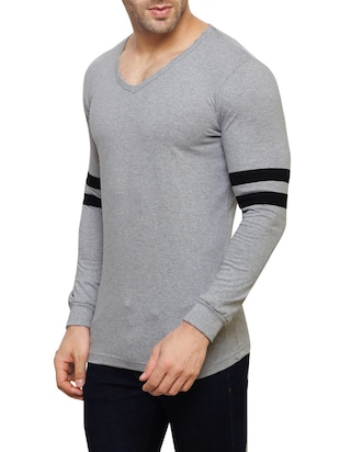 grey cotton  t-shirt - 14543085 - Standard Image - 2