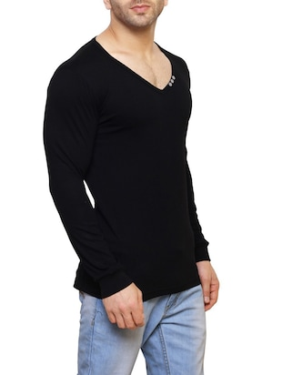 black cotton  t-shirt - 14543089 - Standard Image - 2