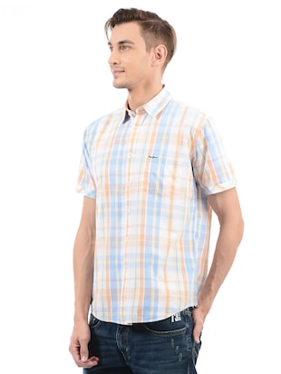 multi cotton blend casual shirt - 14543284 - Standard Image - 2