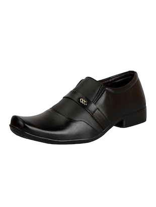 black Leather formal slip on - 14543762 - Standard Image - 2