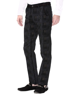 black cotton corduroy casual trousers - 14543922 - Standard Image - 2