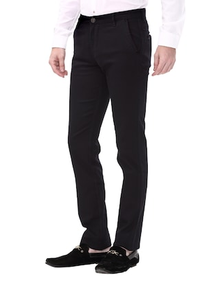navy blue cotton chinos casual trouser - 14543924 - Standard Image - 2