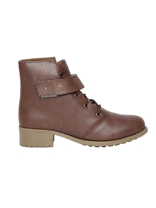 brown  faux leather ankle boot - 14544458 - Standard Image - 2