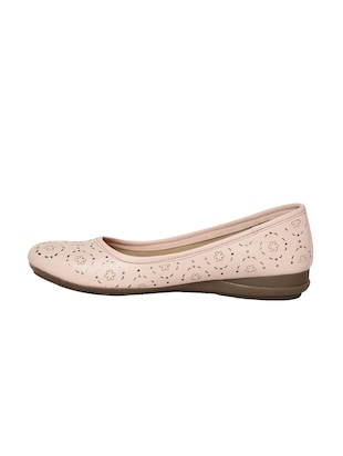 pink faux leather slip on ballerina - 14544475 - Standard Image - 2