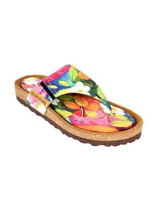 multi rubber flat forms sandals -  online shopping for sandals