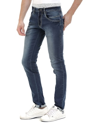 blue denim washed jeans - 14545675 - Standard Image - 2