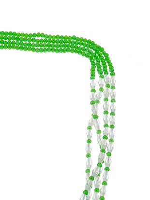 green crystal long necklace - 14545931 - Standard Image - 2