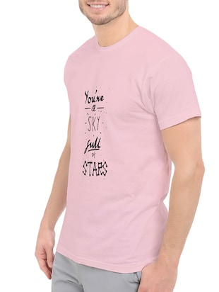 pink cotton front print t-shirt - 14546353 - Standard Image - 2