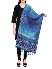 Blue Poly Silk Tie & Dye Dupatta - By