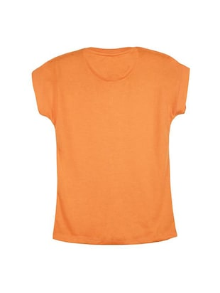 orange cotton  tee - 14547151 - Standard Image - 2