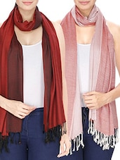 Set of 2 multi colored stole -  online shopping for stoles
