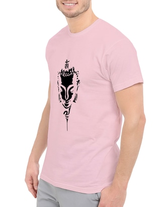 pink cotton chest print tshirt - 14547424 - Standard Image - 2