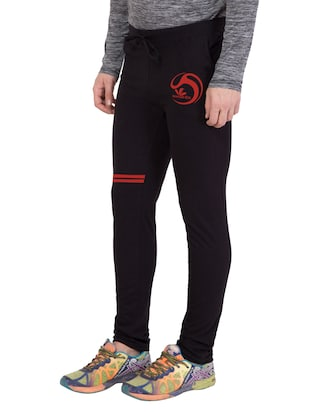 black cotton  full length track pant - 14549596 - Standard Image - 2