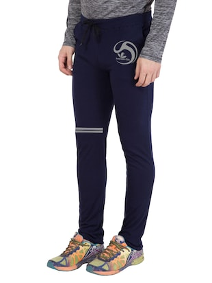 navy blue cotton  full length track pant - 14549604 - Standard Image - 2