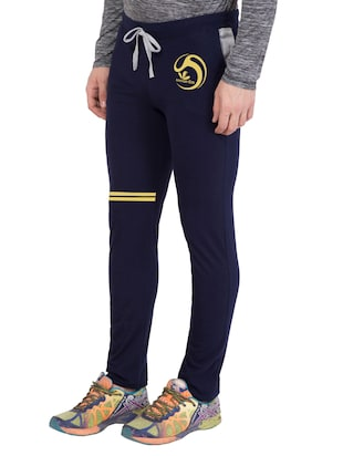 navy blue cotton  full length track pant - 14549625 - Standard Image - 2