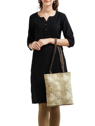 beige canvas tote - 14553270 - Standard Image - 5
