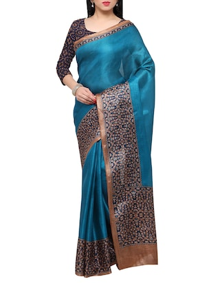 multi colored tussar silk combo saree with blouse - 14553752 - Standard Image - 5