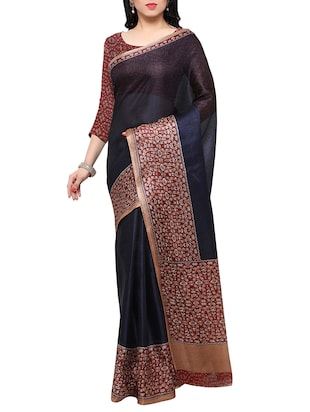 multi colored tussar silk combo saree with blouse - 14553757 - Standard Image - 5