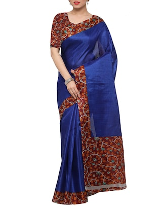 multi colored tussar silk combo saree with blouse - 14553763 - Standard Image - 5
