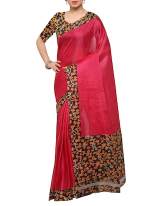 multi colored tussar silk combo saree with blouse - 14553772 - Standard Image - 5