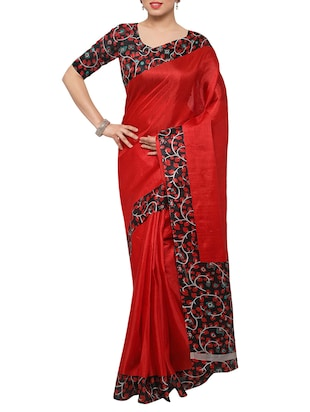 multi colored tussar silk combo saree with blouse - 14553786 - Standard Image - 5