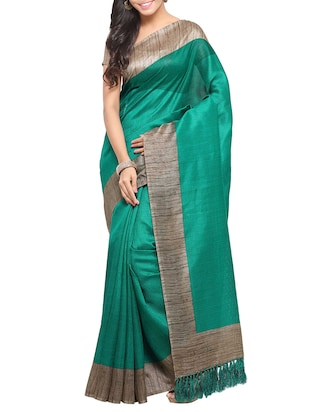 multi colored tussar silk combo saree with blouse - 14553793 - Standard Image - 5