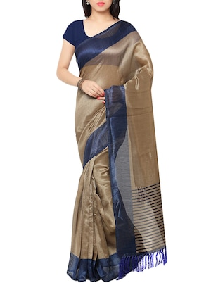 multi colored tussar silk combo saree with blouse - 14553798 - Standard Image - 5