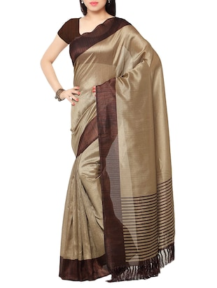 multi colored tussar silk combo saree with blouse - 14553799 - Standard Image - 5