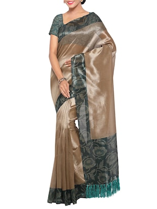 multi colored tussar silk combo saree with blouse - 14553809 - Standard Image - 5