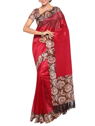 multi colored tussar silk combo saree with blouse - 14553811 - Standard Image - 5
