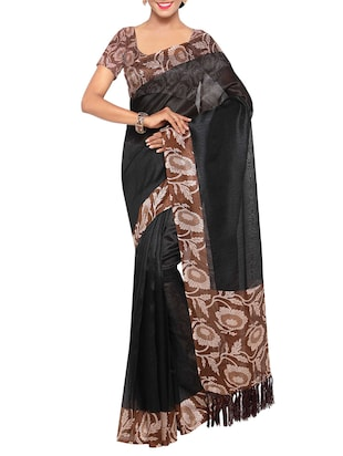 multi colored tussar silk combo saree with blouse - 14553813 - Standard Image - 5