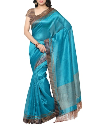 multi colored tussar silk combo saree with blouse - 14553832 - Standard Image - 2