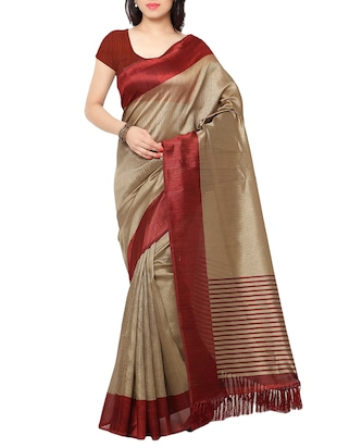 multi colored tussar silk combo saree with blouse - 14553843 - Standard Image - 2