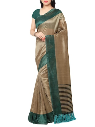 multi colored tussar silk combo saree with blouse - 14553845 - Standard Image - 2
