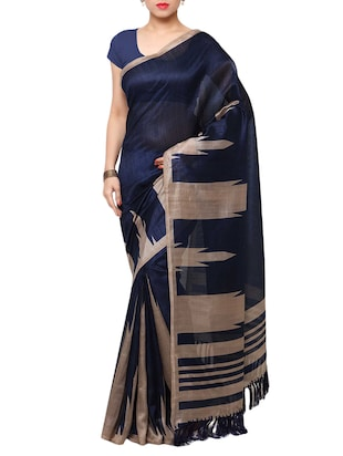 multi colored tussar silk combo saree with blouse - 14553846 - Standard Image - 2