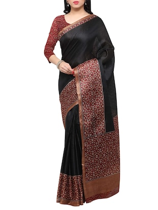 multi colored tussar silk combo saree with blouse - 14553862 - Standard Image - 2