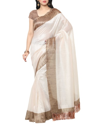 multi colored tussar silk combo saree with blouse - 14553872 - Standard Image - 2