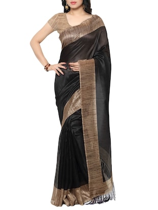 multi colored tussar silk combo saree with blouse - 14553873 - Standard Image - 2