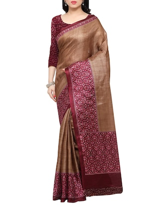 multi colored tussar silk combo saree with blouse - 14553902 - Standard Image - 2