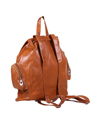 brown leatherette  fashion backpack - 14559934 - Standard Image - 2