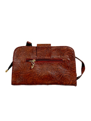 brown leatherette  regular sling bag - 14559952 - Standard Image - 2