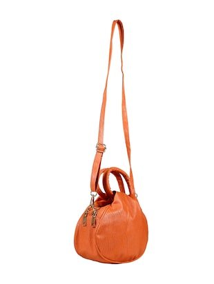 orange leatherette regular sling bag - 14559954 - Standard Image - 2