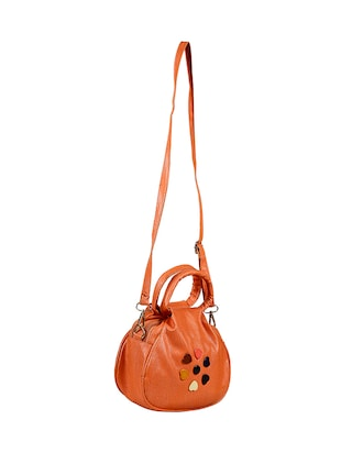 orange leatherette regular sling bag - 14559954 - Standard Image - 5