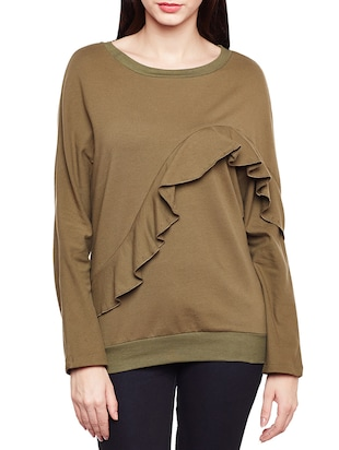 brown solid sweatshirt