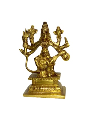 Brass Religious Idol of Sitting Durga Handicrafts Product
