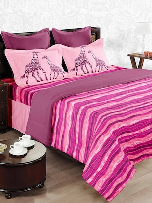 Double Bed Comforter with Double bedsheet with 2 pillow covers