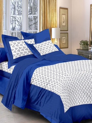 Cotton Double Bedsheet with 2 pillow covers -  online shopping for bed sheet sets