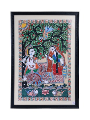 Buy Madhubani Mithila Painting Of Eternal Love Of Radha