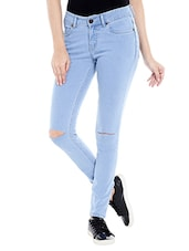 light blue denim jean -  online shopping for Jeans