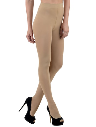 beige solid stockings - 14599904 - Standard Image - 2